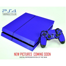 PS4 Skin - Blue Carbon Fibre Skin