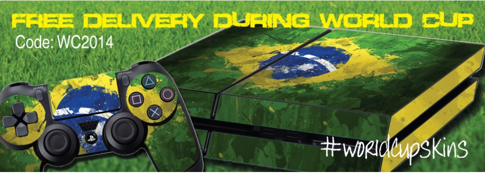 PS4 Skins - Brazil ps4skins.co.uk