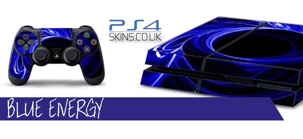 PS4 Skins -  Blue Energy ps4skins.co.uk